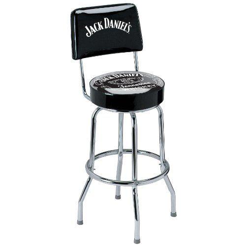Jack Daniel S Bar Stool With Backrest Bar Stools Home Bar