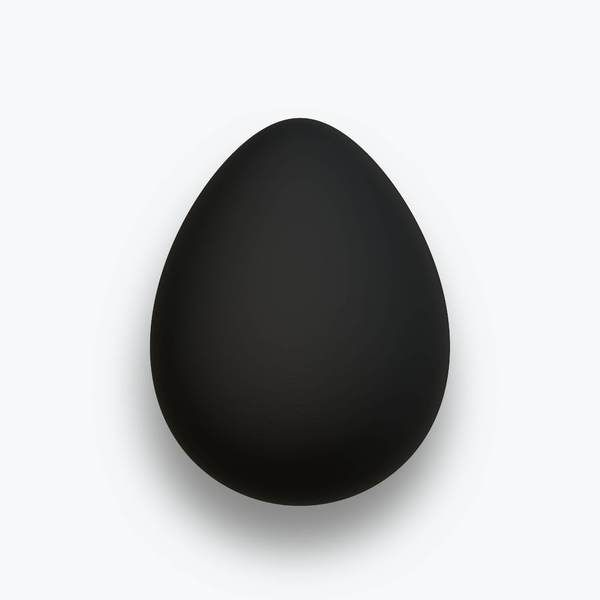 A black shiny 3d egg. You may prefer:  http://www.rgbstock.com/photo/oBuuDxC/Decorated Egg 8  or:  http://www.rgbstock.com/photo/nJa1SQE/Egg 2  Use within licence or contact me.