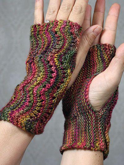 Free Knitting Pattern For Scalloped Fingerless Gloves Knit