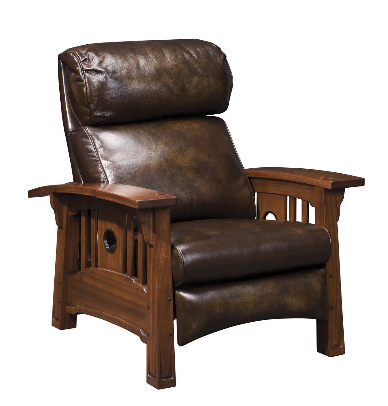 stickley furniture tsuba bustle back recliner - Mission Style Recliner