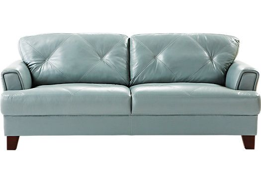 For A Cindy Crawford Home Eden Place Seafoam Leather Sofa At Rooms To Go Find Sofas That Will Look Great In Your And Complement The Rest