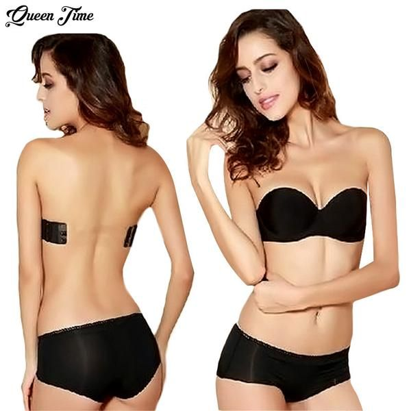 03c328ffdd2 2016 Sexy Formal Dress One Piece Seamless Bra Cup Invisible A Blade  Strapless Ladies Push Up Underwear Only Bra-Women s Bras-Enso  Store-Black-A-32-Enso ...
