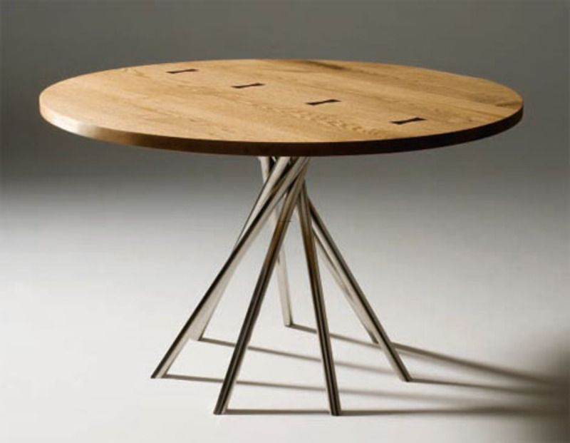 Modern kitchen table for the home pinterest modern kitchen the round kitchen table sets can be found in some very small sizes that are designed to be bistro style tablesa round kitchen table can also come as a workwithnaturefo