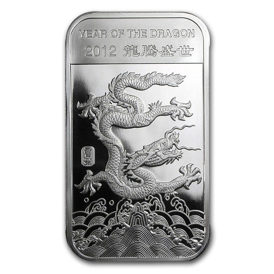 1 Oz Silver Bar Apmex 2012 Year Of The Dragon 1 Oz Silver Bars Apmex Silver Bars Year Of The Dragon Silver Coins
