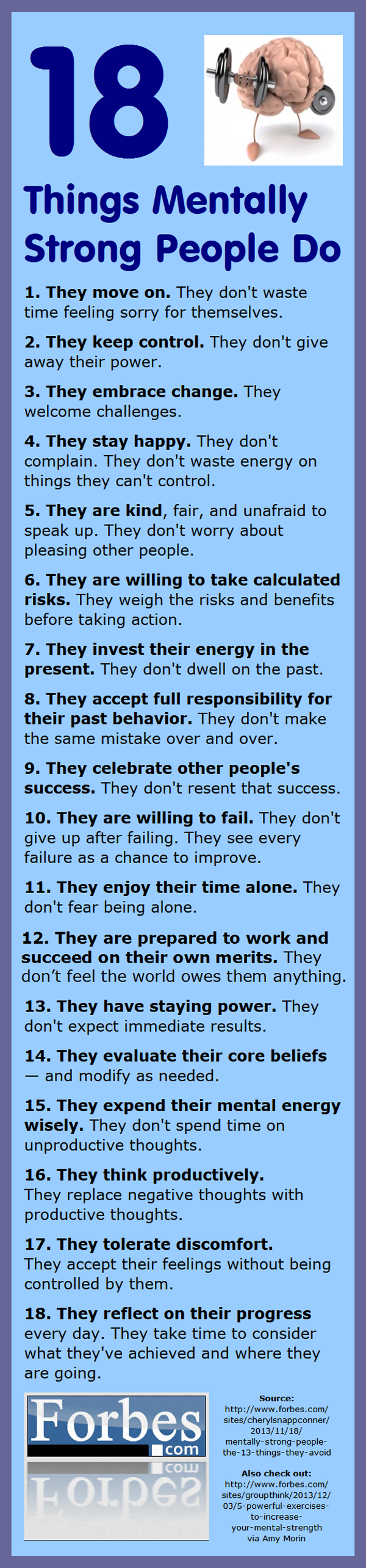 """""""18 Things Mentally Strong People Do"""" -- Love this!! Great reminders as a daily inspiration..."""
