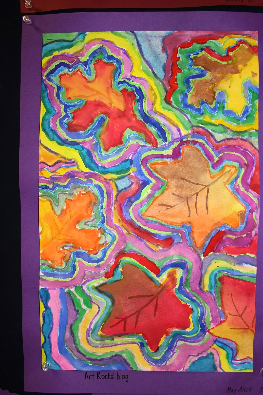 Art Rocks Grade 3 Leaves Lines And Repetition