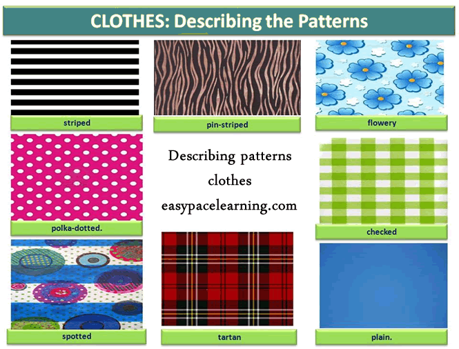 Learning About Clothes Patterns English Lesson English Language