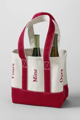 Yours Mine Ours Wine Tote Too Cute Canvas Wine Tote Wine Tote Bags