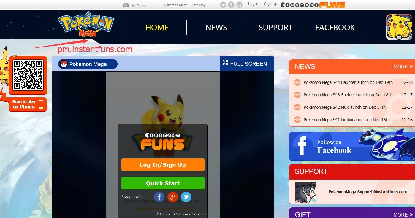 Pokemon Mega Instantfuns GAME FOR PC. NO NEED TO DOWNLOAD