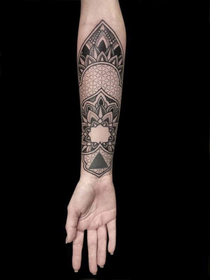 A cultural tattoo design with so much depth, beauty, just looking at it will ease you into the graphic representation of the cosmos.