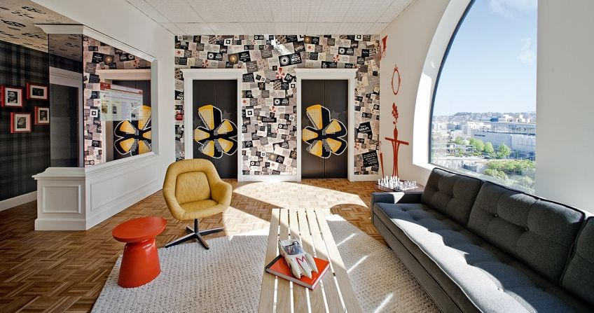 Yelps office interiors workplace bureau le bureau appartement
