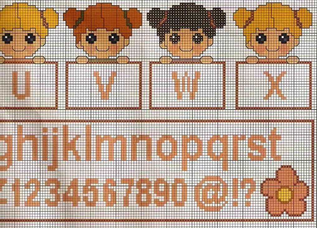 Ecco alcuni alfabeti per e con bambini alfabeto punto for Alfabeti a punto croce per bambini