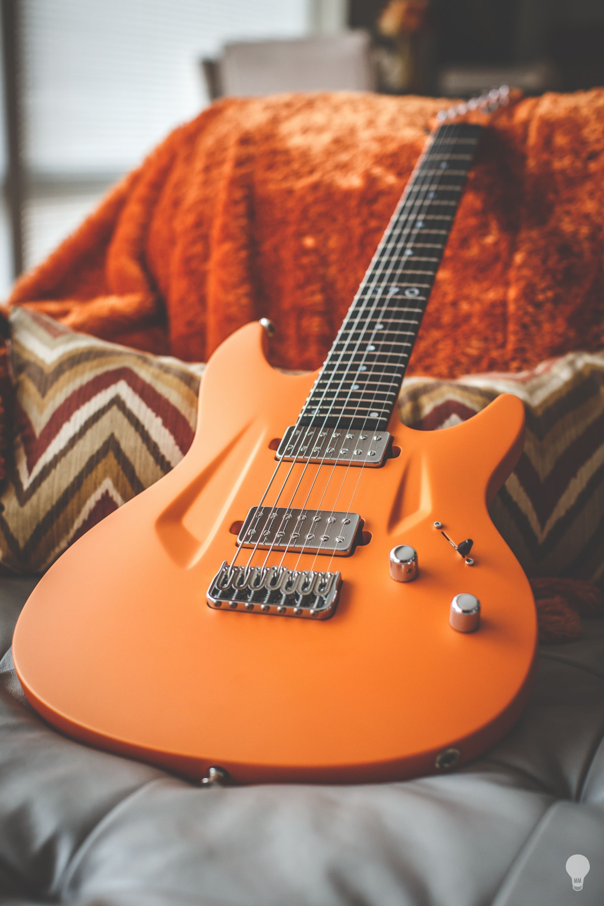 aristides 070 dutch orange owned by misha mansoor of periphery in 2019 guitar music guitar. Black Bedroom Furniture Sets. Home Design Ideas
