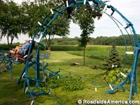 Backyard Roller Coasters Of John Ivers In Bruceville, Indiana