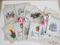 Vintage Weihnachten & Neujahr ♥ Grußkarten