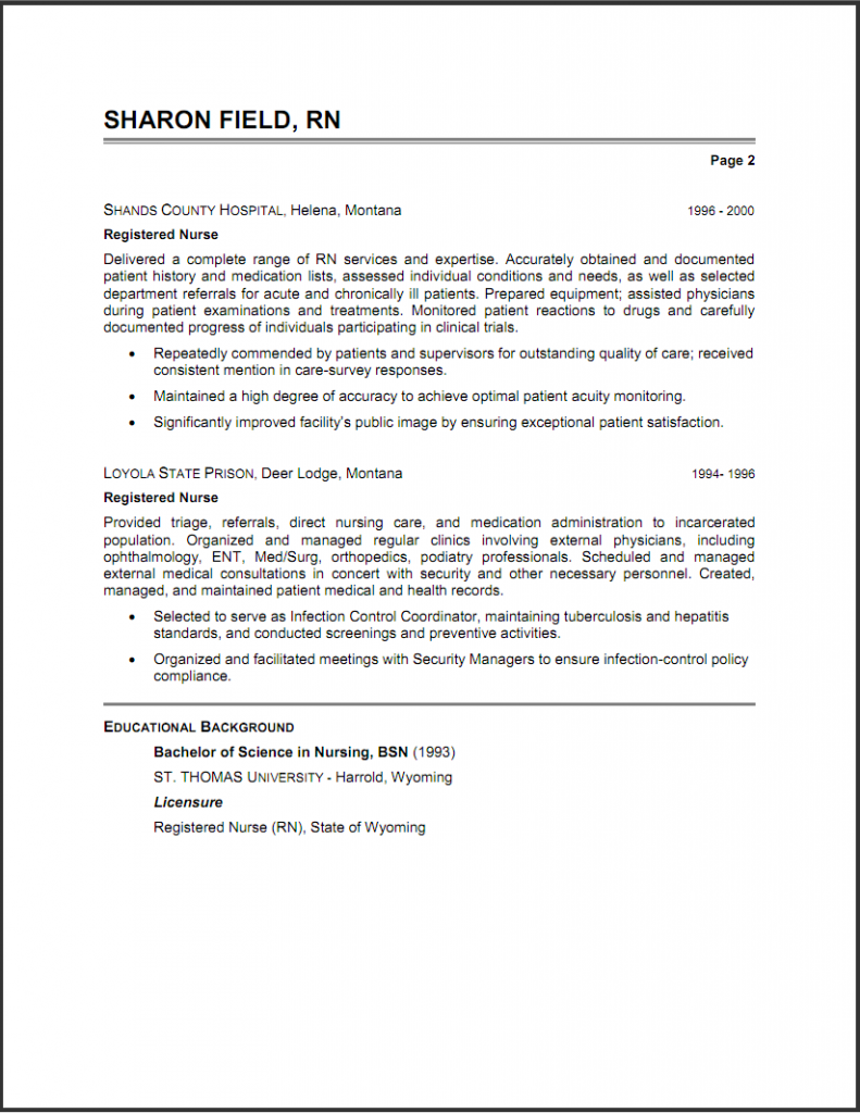Respiratory Therapist Resume New Grad Nursing resume