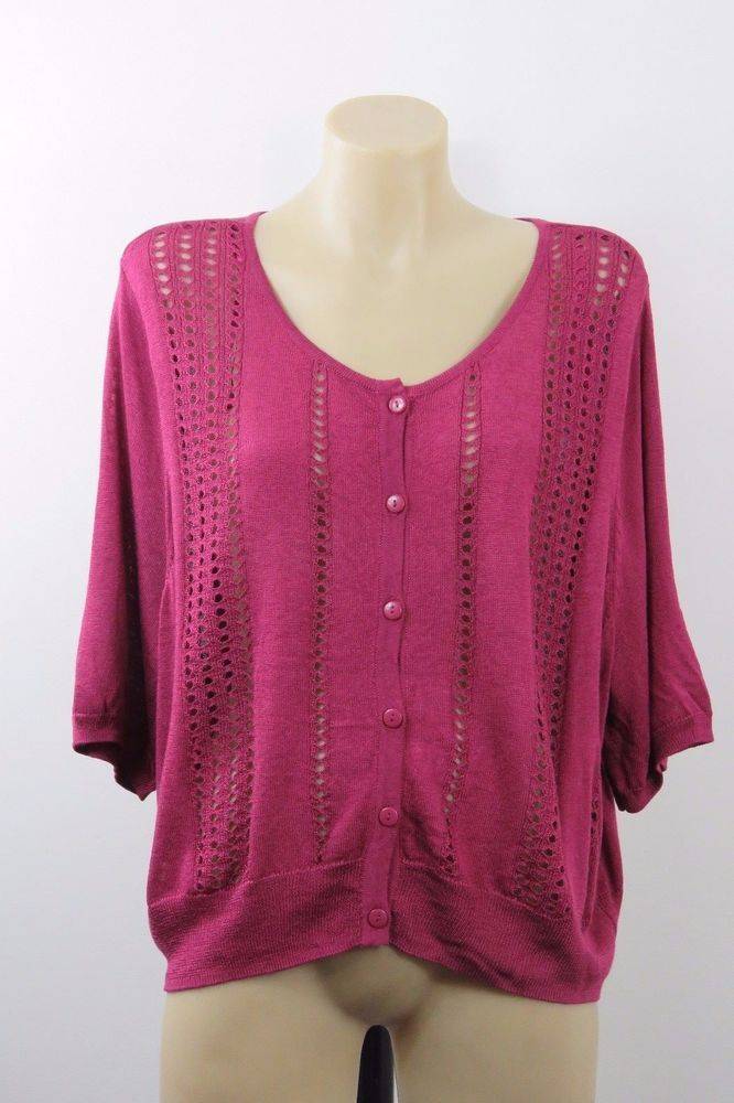 Plus Size 4XL 22 Autograph Ladies Knit Top Cardigan Shrug Chic Casual Boho Style #Autograph #Cardigan #Work