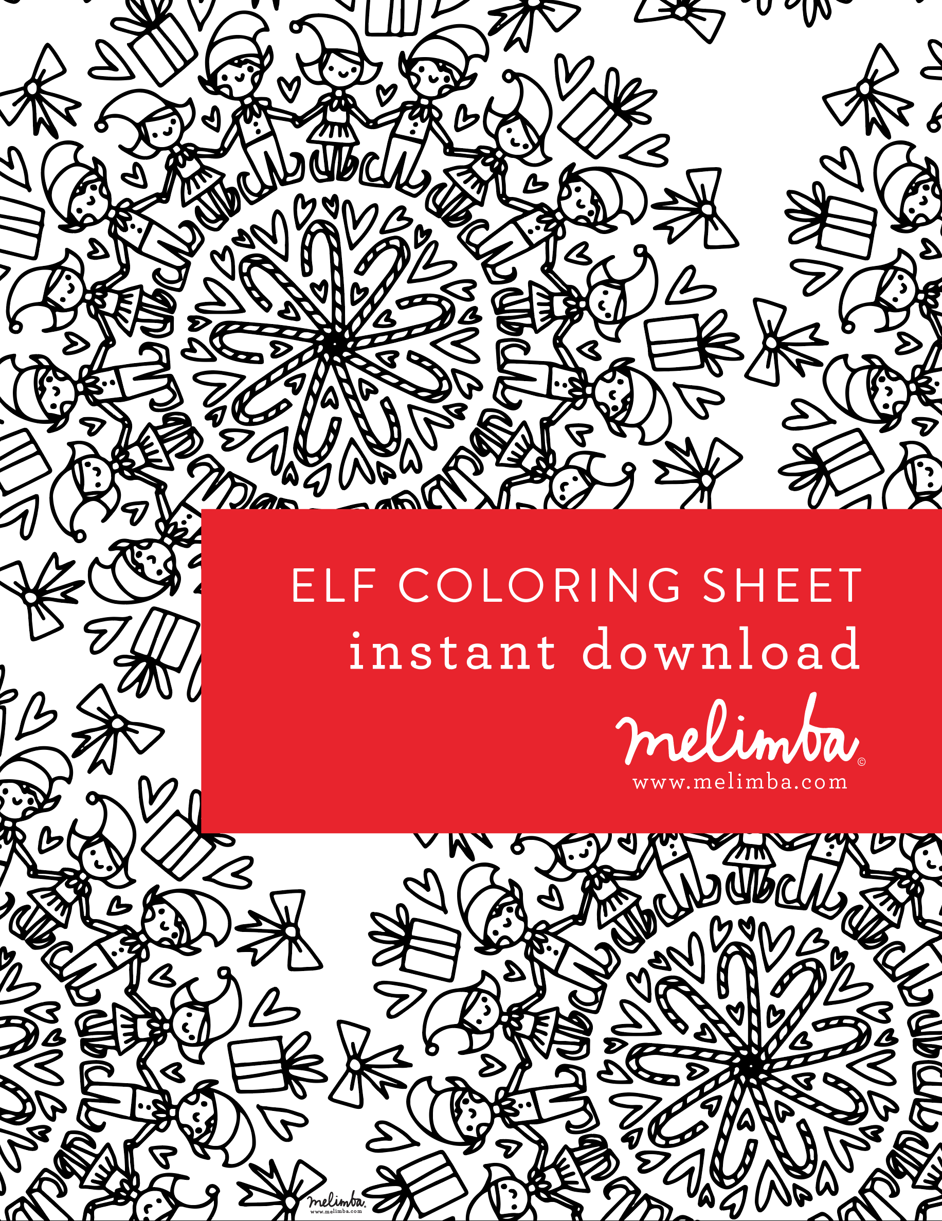 Free ELF coloring pages at www.melimba.com in PRINTABLES tab ...
