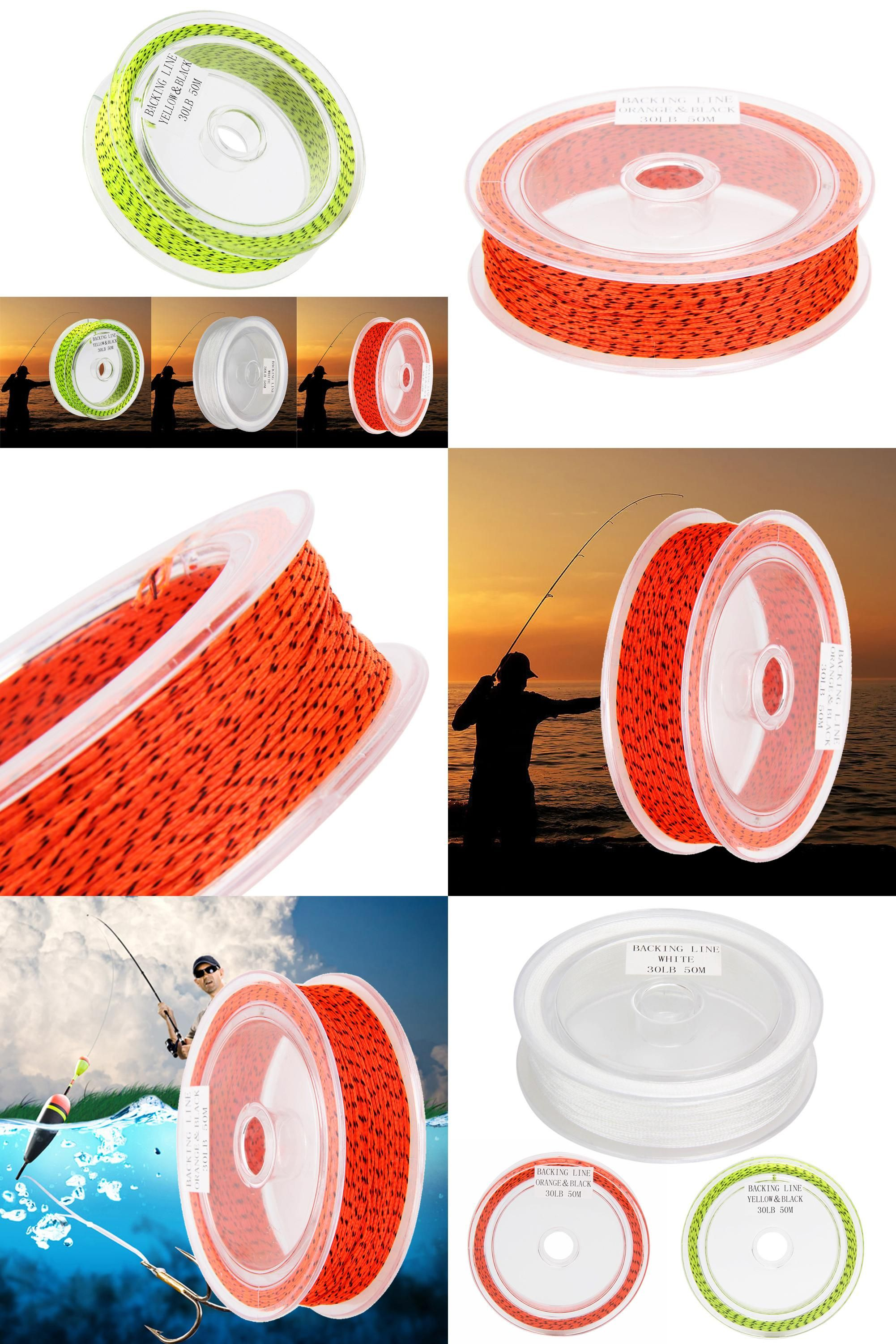 Visit to Buy] fly fishing 1 Piece White/Green/Red Color 50M Backing ...