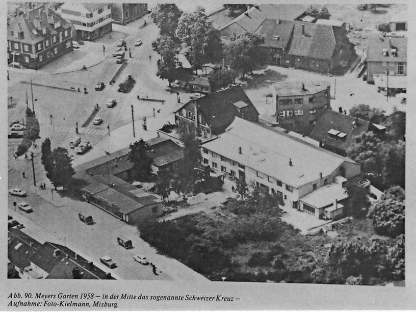 Hannover Misburg 1958 Eine Luftaufnahme Von Meyers Garten 1958 Hannover Luftaufnahme Hannoversche