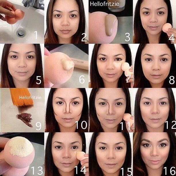 Step By Step Face Routine- Foundation Contouring And Highliting ...