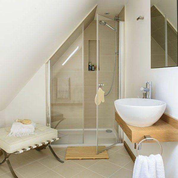 Une salle de bain sous pente ou sous combles en 52 photos for Transformer un bain en douche