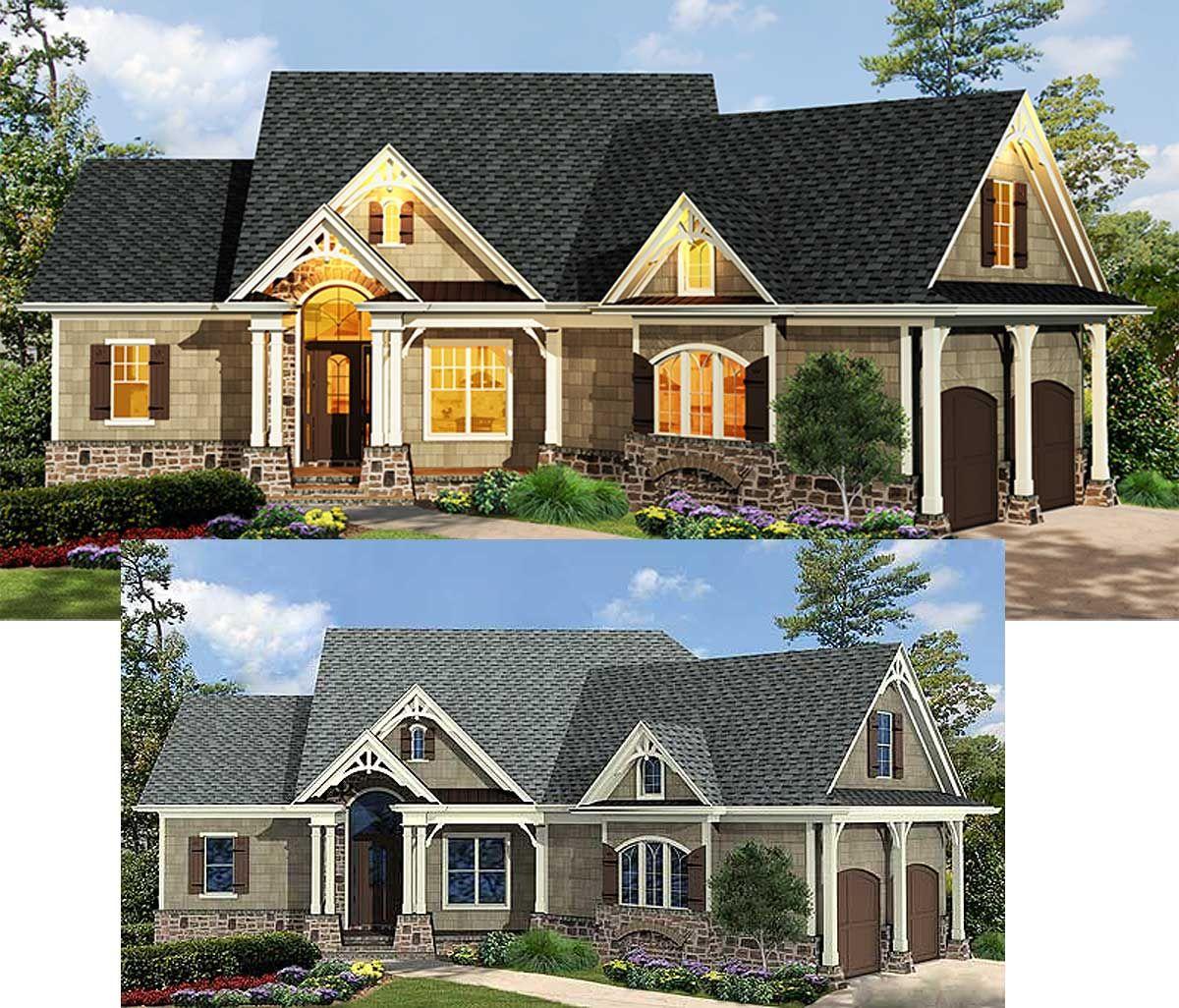 Plan 15883GE: Craftsman-Inspired Ranch Home Plan