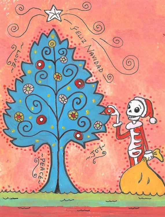 Day of the dead christmas card by j ellison holidays pinterest day of the dead christmas card by j ellison m4hsunfo