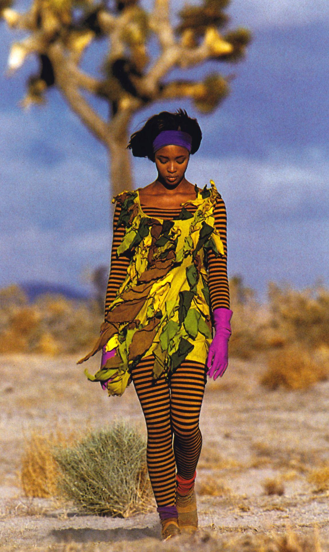 Gilles Bensimon for Elle magazine, August 1990. Clothing by Betsey Johnson.