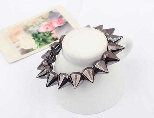 Spiked Elastic Stretch Bracelets by ShamballaStyle on Etsy, $6.99
