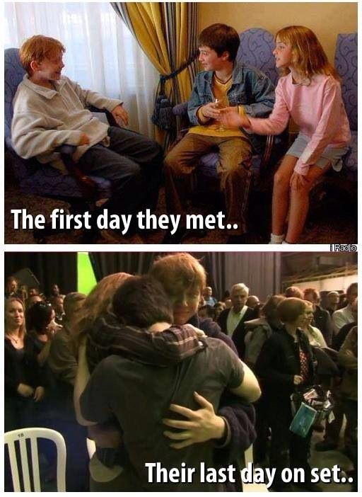 Harry Potter Daniel Radcliffe Rupert Grint And Emma Watson Harry Potter Love Harry Potter World Harry Potter Cast