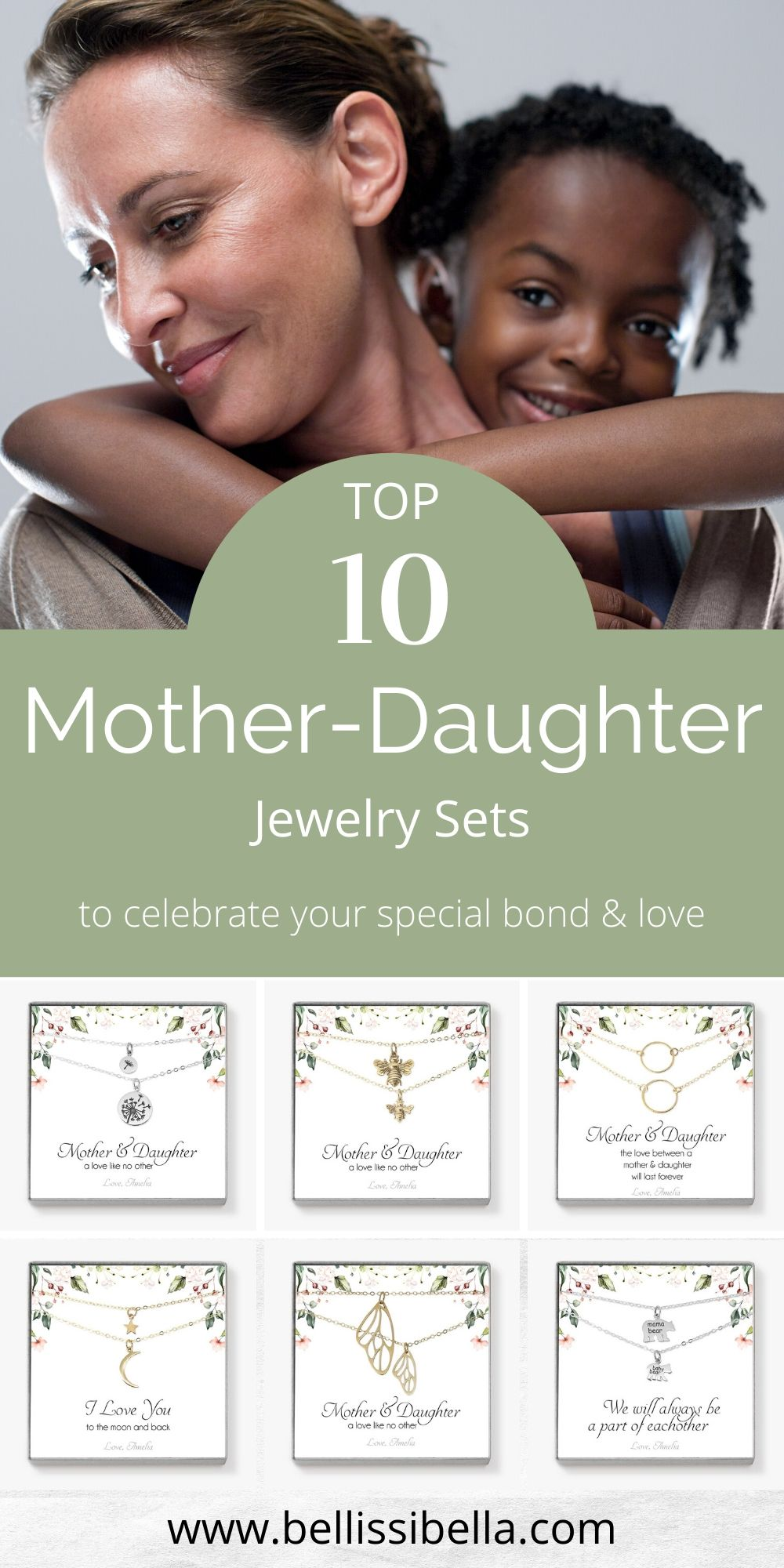 Mother+Daughter Necklace Sets in 2020 Mothers quotes to