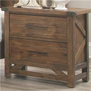 Coaster Bridgeport Nightstand With 2 Drawers And Rivet Details   Coaster  Fine Furniture