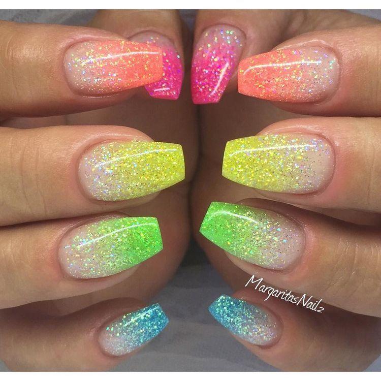 AutenticAsh1105 | •M A N I | P E D I• | Pinterest | Ombre, Glitter ...