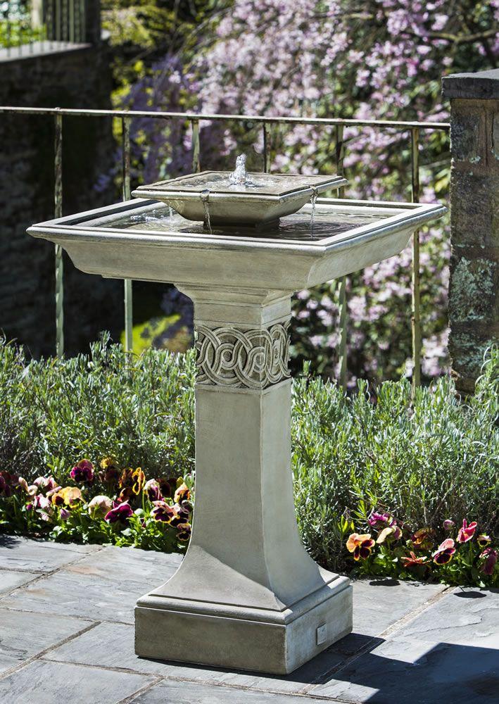 Portwenn Fountain Birdbath Style Tiered Water Fountain Modern