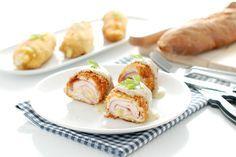 Receta con o sin Thermomix de pechugas de pollo Cordon Bleu acompañadas de un sabroso puré a la mostaza