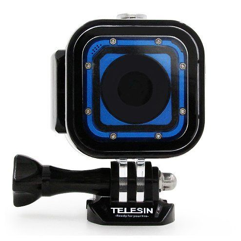 Telesin 60m Underwater Diving Waterproof Housing Protective Case For Gopro Hero 5 Sessionhero4 Sessionhe Sports Camera Sport Photography Blue Dress Accessories