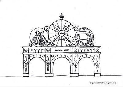 Dibujos gratis para colorear de la feria de Sevilla | España para