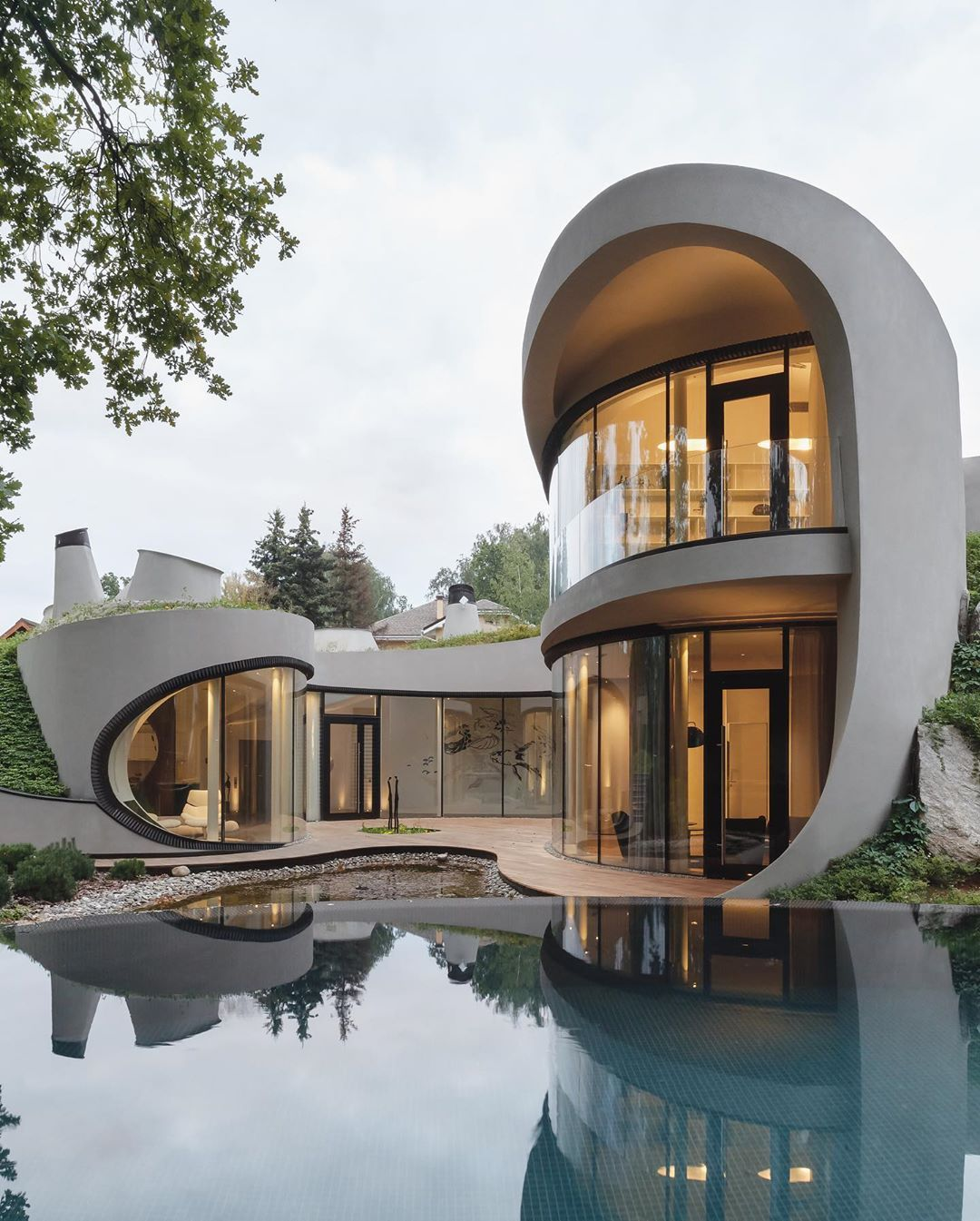 Amazing Architecture On Instagram House In The Landscape Designed By Moscow Based Archite Architecture Design Concept Futuristic Home Futuristic Architecture