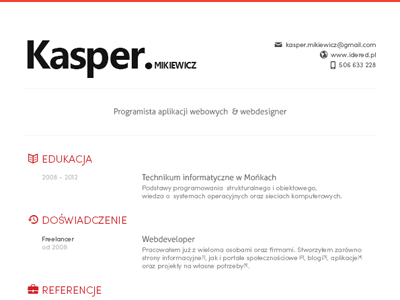 Header For Resume Kasper Resume  Resume Styles Design Resume And Resume Cv