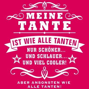 Funshirt Tante Frauen T Shirt Weiss Schwester Zitate