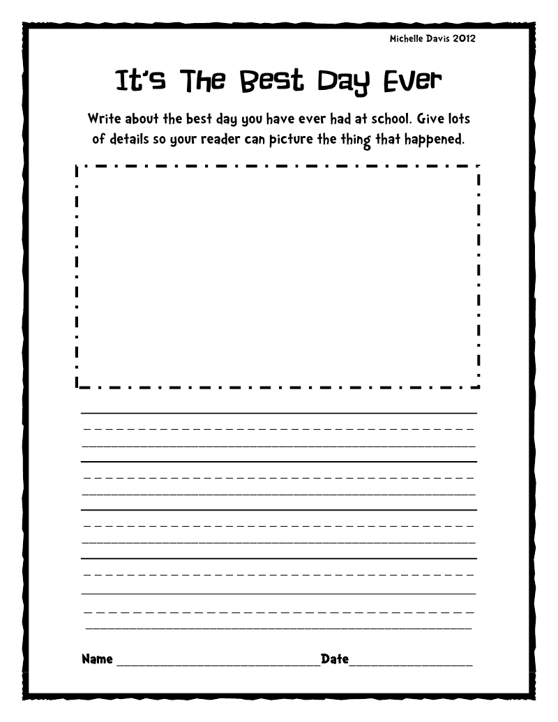 Blank writing activities for second graders