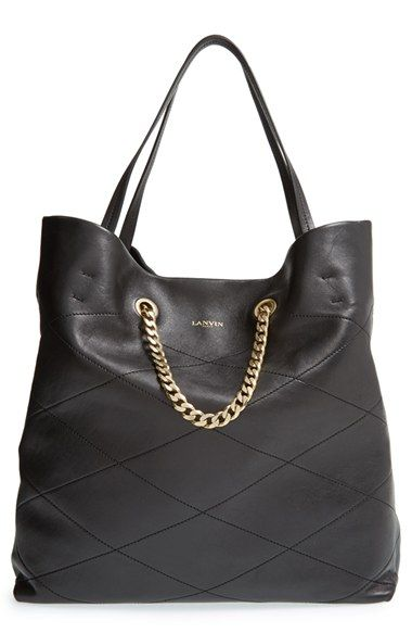 Lanvin Carry Me Quilted Lambskin Leather Tote Available At Nordstrom