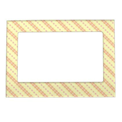 vibrant idea yellow picture frames. Yellow Pink and Orange Striped Pattern Magnetic Frame  patterns pattern special unique design gift idea