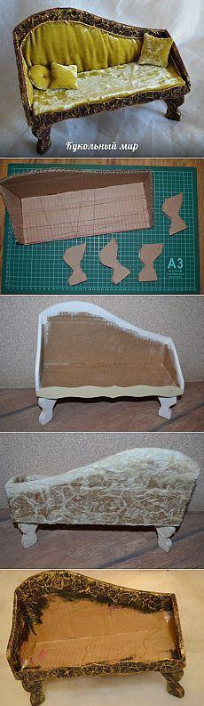 Meisterklasse Sofa - #einrichtungsideen #Meisterklasse #sofa #miniaturefurniture