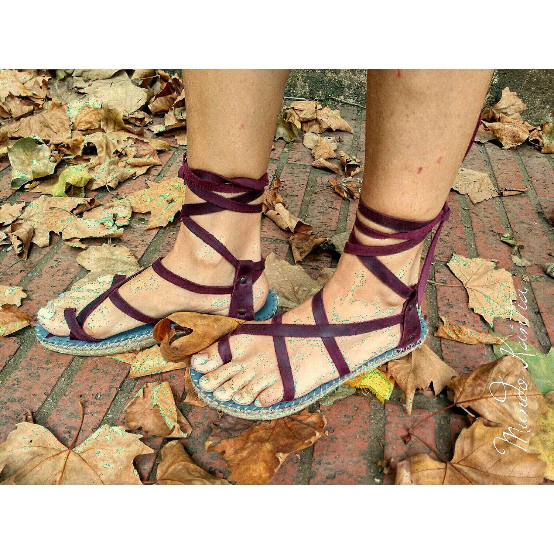Sandalias tiras cruzadas,en piel y suela de yute, cuña semiplana, tiras  totalmente ajustables, espadrillas, a tu gusto sandalias modo.peregrinas