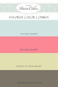Favorite Paint Colors: Watery, Begonia, Hearts of Palm, Muddled Basil
