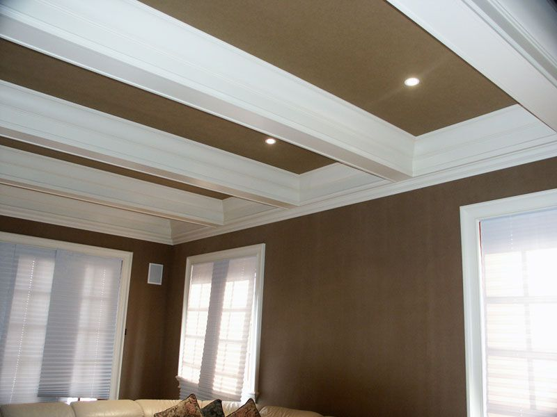 Beam Box Coffered Ceiling | Custom Carpentry, Custom Cauffered Coffered Ceilings  Box Beams Crown .