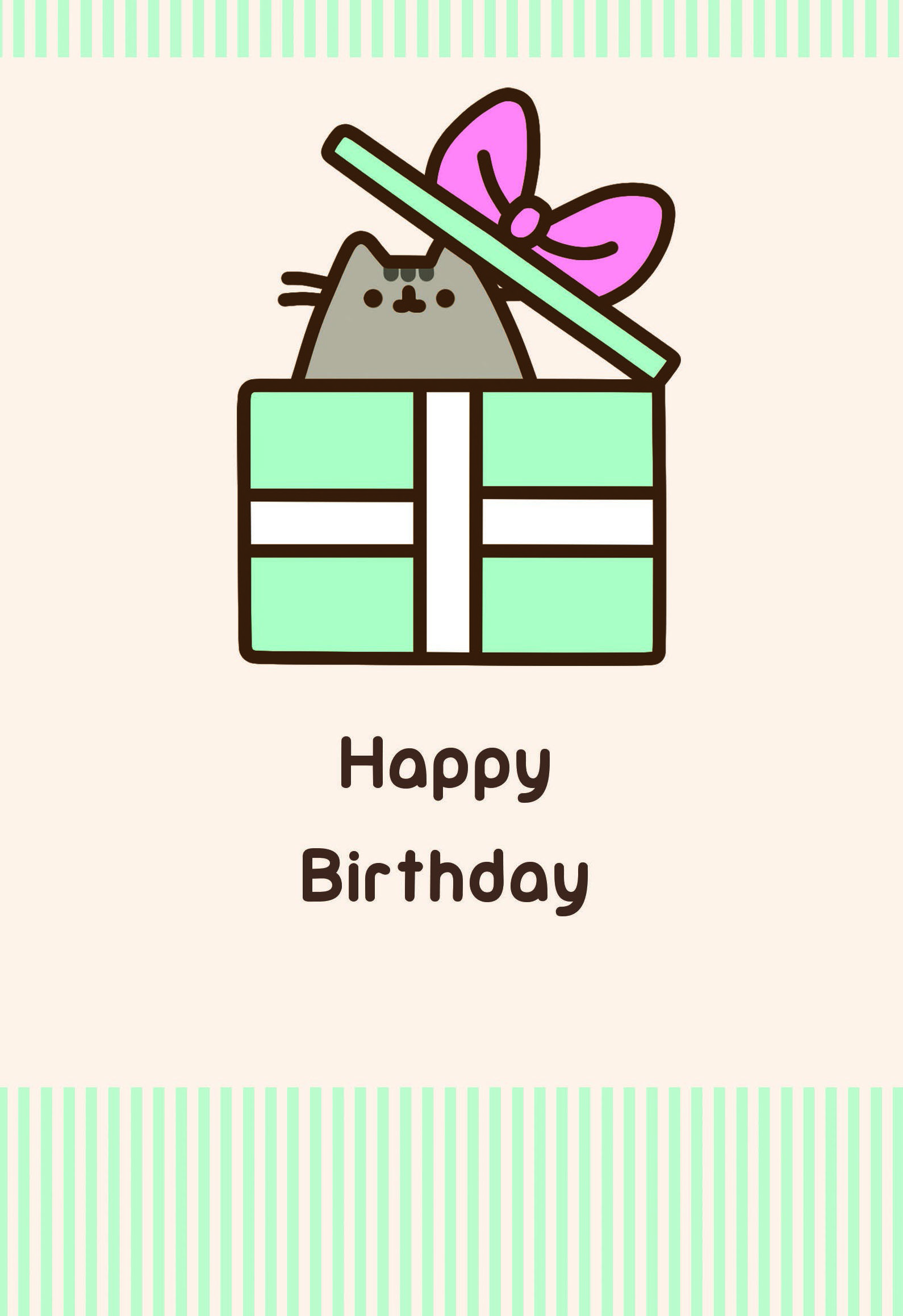 Pusheen 'Happy Birthday' card from Gemma International