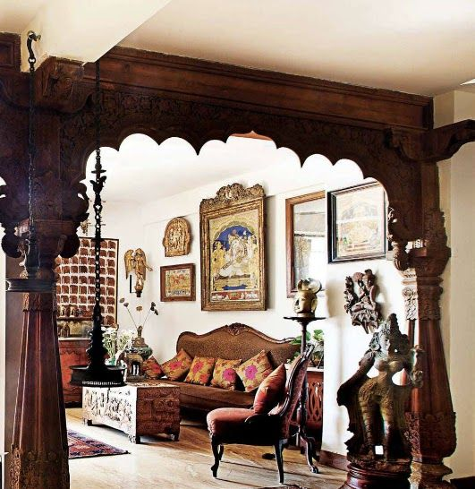 Home Interior Design | Living rooms, Ethnic decor and Indian ...